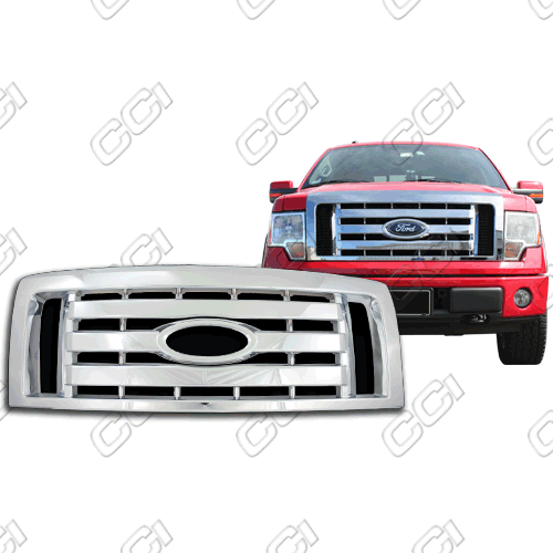 Ford F150 Xl, Stx, Fx4 2009-2012 Chrome Front Grille Overlay