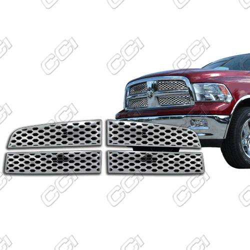 Dodge Ram 1500 2009-2012 Chrome Front Grille Overlay