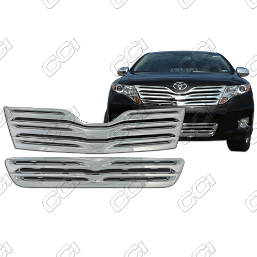 Toyota Venza  2009-2012 Chrome Front Grille Overlay Top And Bottom
