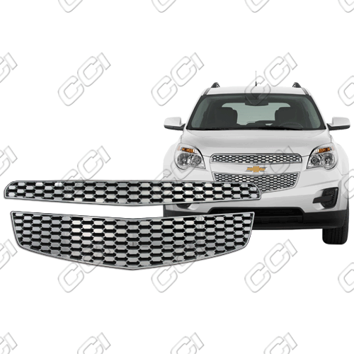 Chevrolet Equinox Ls, Lt, Ltz 2010-2012 Chrome Front Grille Overlay