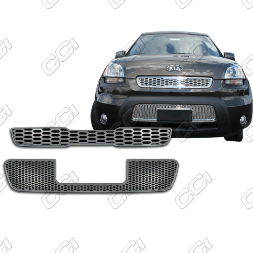 Kia Soul  2010-2011 Chrome Front Grille Overlay