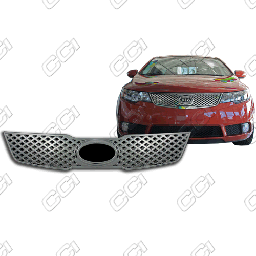 Kia Forte Ls, Ex, Sx 2010-2010 Chrome Front Grille Overlay