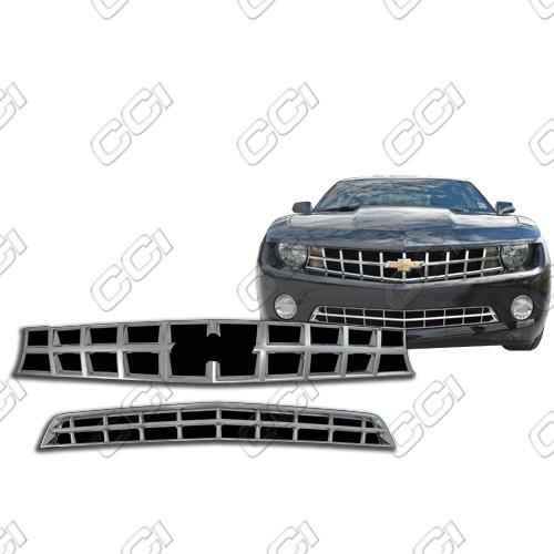 Chevrolet Camaro Ls, 1lt, 2lt 2010-2013 Chrome Front Grille Overlay