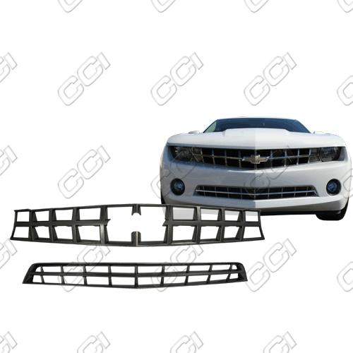 Chevrolet Camaro Ls, 1lt, 2lt 2010-2013 Black Chrome Front Grille Overlay