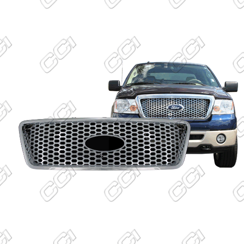Ford F150 Xlt, Lariat 2004-2008 Chrome Front Grille Overlay Honeycomb