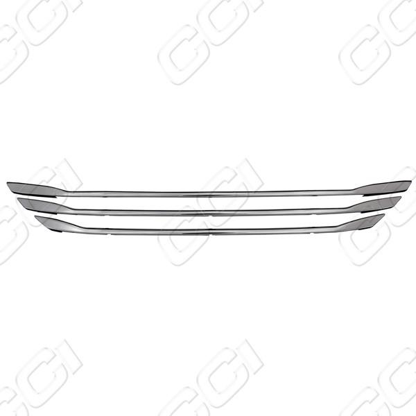 Hyundai Elantra Gls 2011-2012 Chrome Front Grille Overlay