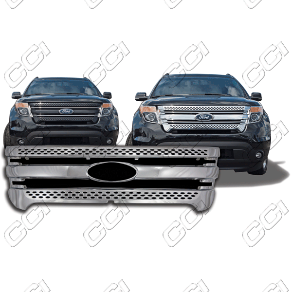 Ford Explorer  2011-2013 Chrome Front Grille Overlay