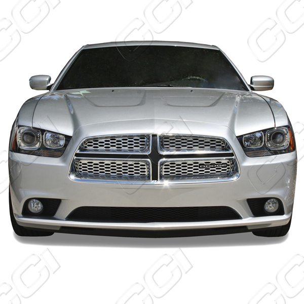 Dodge Charger Se, Sxt, R/T 2012-2012 Chrome Front Grille Overlay
