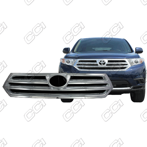 Toyota Highlander Base, Se, Limited 2011-2013 Chrome Front Grille Overlay