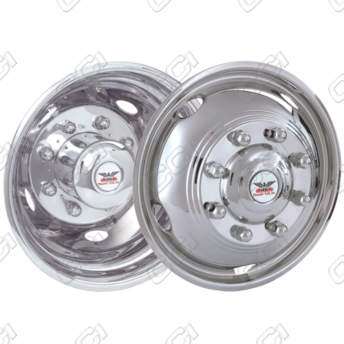 "Ford Super Duty F450/550 2003-2004 Chrome Wheel Simulators (19.5"" 8 Lugs)"