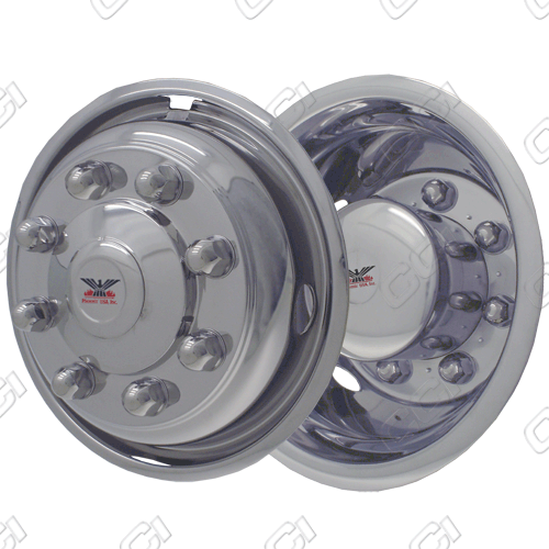 "Chevrolet Silverado 4500 2005-2010 Chrome Wheel Simulators (19.5"" 8 Lugs 6 Inch Wide Wheel)"