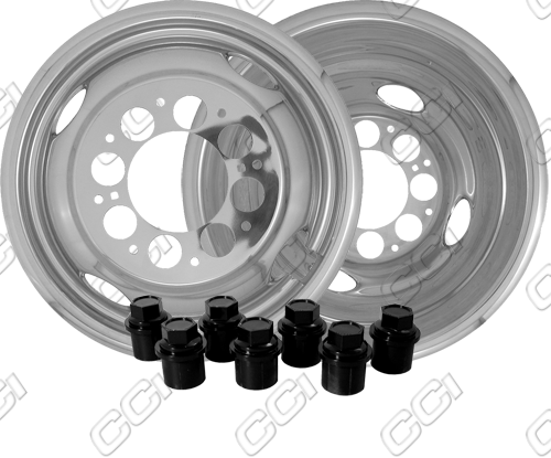 "Gmc Full Size Pickup 3500 1974-1999 Chrome Wheel Simulators (16"" 8 Lugs)"