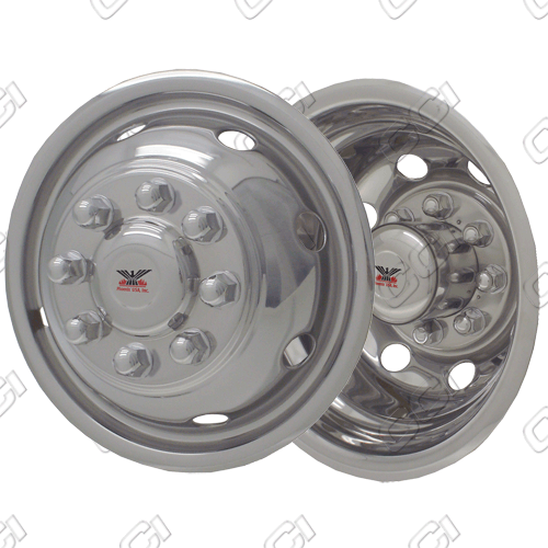 "Ford E-Series E350/450 1992-2003 Chrome Wheel Simulators (16"" 8 Lugs)"