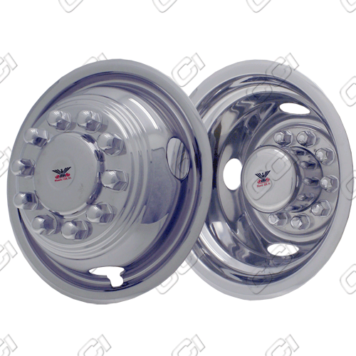 "Ford Super Duty F350 1992-1998 Chrome Wheel Simulators (16"" 10 Lugs)"