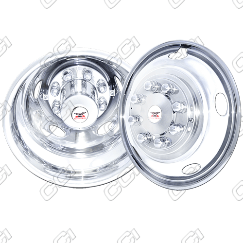 "Dodge Ram 3500 2003-2012 Chrome Wheel Simulators (17"" 8 Lugs)"