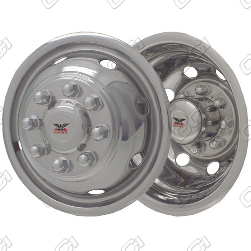 "Ford E-Series E350/450 1992-2007 Chrome Wheel Simulators (16"" 8 Lugs)"