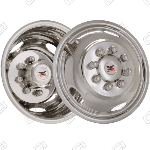 "Gmc Sierra 3500 2008-2010 Chrome Wheel Simulators (17"" 8 Lugs)"