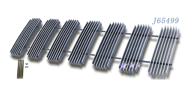 Jeep Commander  2006-2010 Polished Main Upper Aluminum Billet Grille