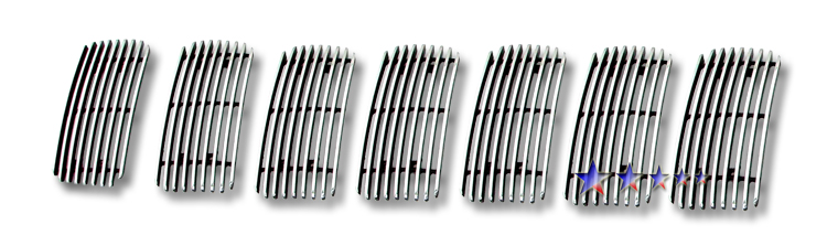 Jeep Grand Cherokee SRT8 2006-2008 Polished Main Upper Aluminum Billet Grille