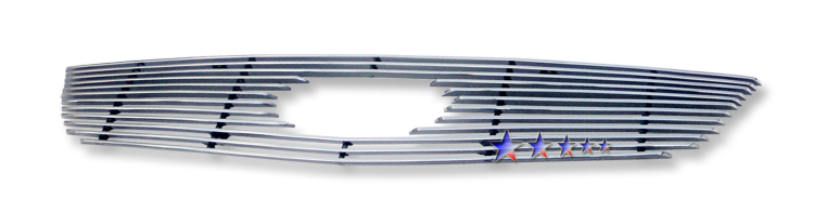 Kia Rio  2006-2009 Polished Main Upper Aluminum Billet Grille