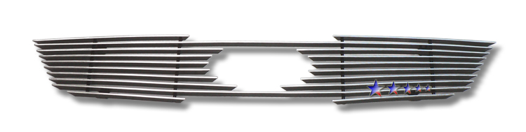 Kia Forte  2010-2012 Polished Main Upper Aluminum Billet Grille