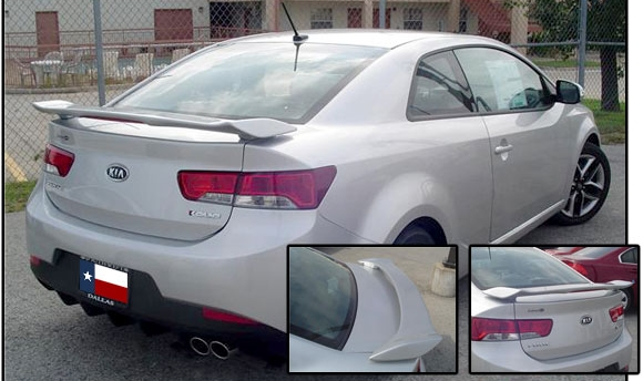Kia Forte  Koup 2010-2011 Factory Style Rear Spoiler - Primed