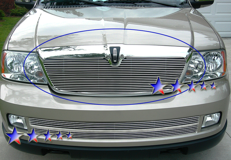 Lincoln Navigator  2003-2006 Polished Main Upper Stainless Steel Billet Grille