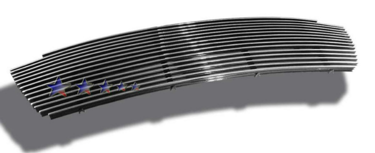 Lincoln Aviator  2003-2005 Polished Main Upper Aluminum Billet Grille