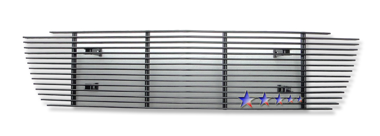 Lincoln Aviator  2003-2005 Black Powder Coated Main Upper Black Aluminum Billet Grille