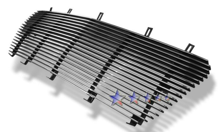 Lincoln Navigator  2003-2004 Black Powder Coated Main Upper Black Aluminum Billet Grille