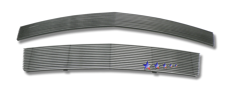 Lincoln Mkz  2007-2008 Polished Main Upper + Lower Bumper Aluminum Billet Grille