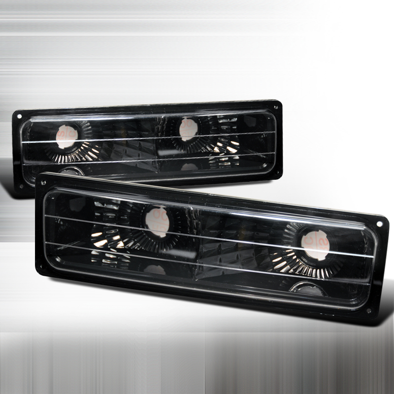 Chevrolet Full Size Pickup 1988-1998 Black Bumper Lights