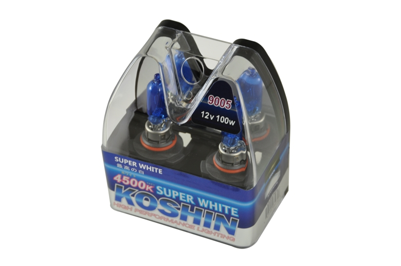 Koshin 9005 Super White Halogen Light Bulbs 12v 100w