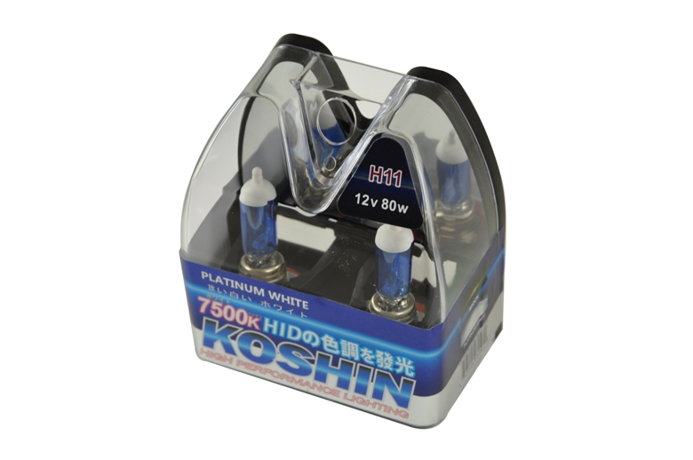 Koshin H11 Platinum White Halogen Light Bulbs 12v 80w
