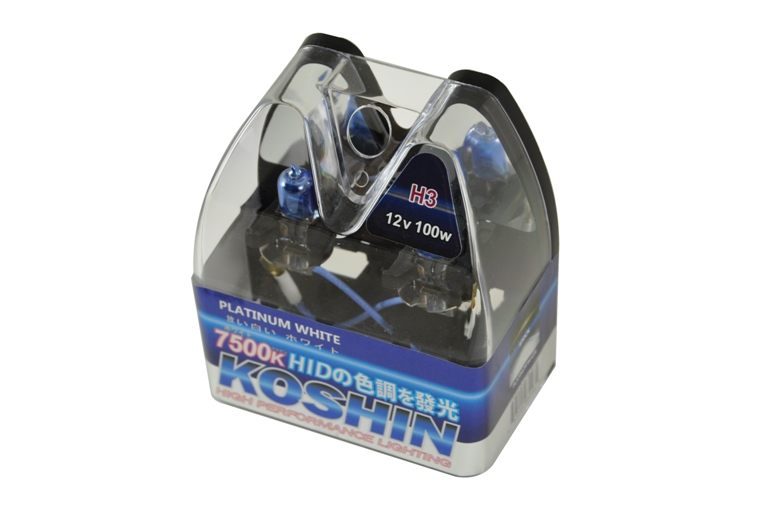 Koshin H3 Platinum White Halogen Light Bulbs 12v 100w