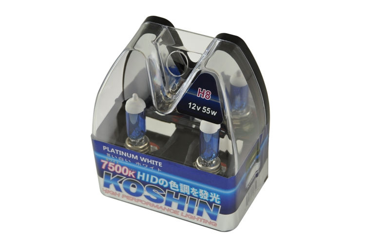 Koshin H8 Platinum White Halogen Light Bulbs 12v 50w
