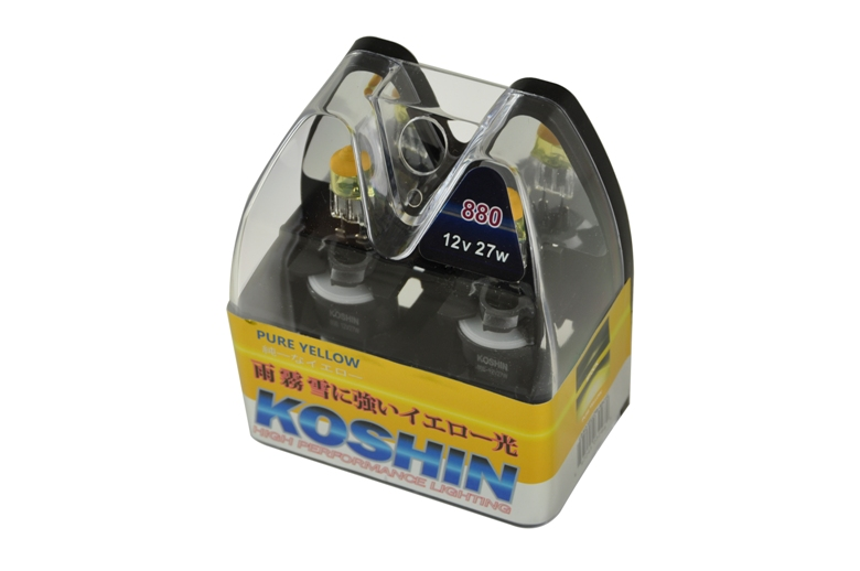Koshin 880 Hyper Yellow Halogen Light Bulbs 12v 27w