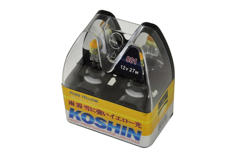 Koshin 881 Hyper Yellow Halogen Light Bulbs 12v 27w