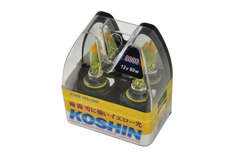 Koshin 9006 Hyper Yellow Halogen Light Bulbs 12v 80w