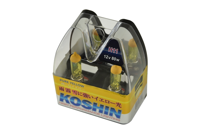 Koshin H11 Hyper Yellow Halogen Light Bulbs 12v 80w