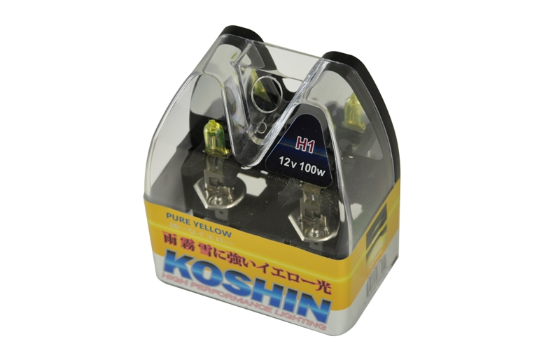 Koshin H1 Hyper Yellow Halogen Light Bulbs 12v 100w
