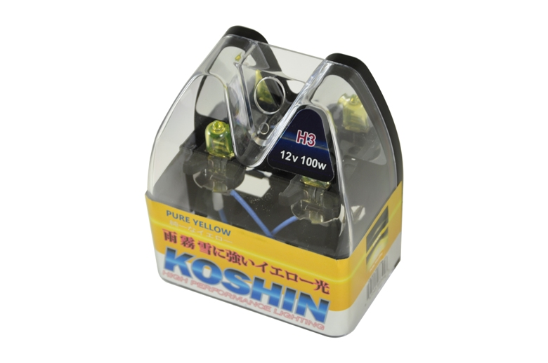 Koshin H3 Hyper Yellow Halogen Light Bulbs 12v 100w