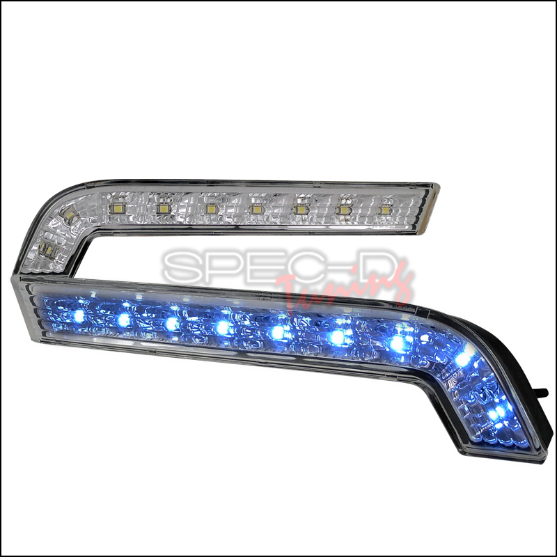Ford Mustang 2010-2011 Gt Daytime Running Light Clear Lens And White LED Fog Lights