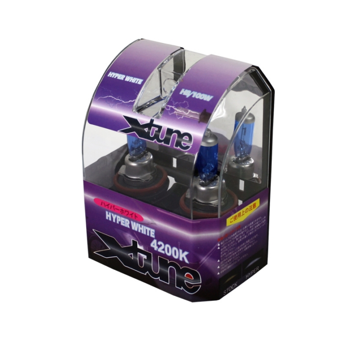 X-Tune Hyper White H8 12v 100w Halogen Light Bulbs