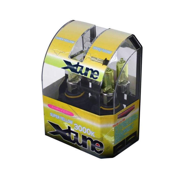 X-Tune Hyper Yellow 9005 12v 100w Halogen Light Bulbs