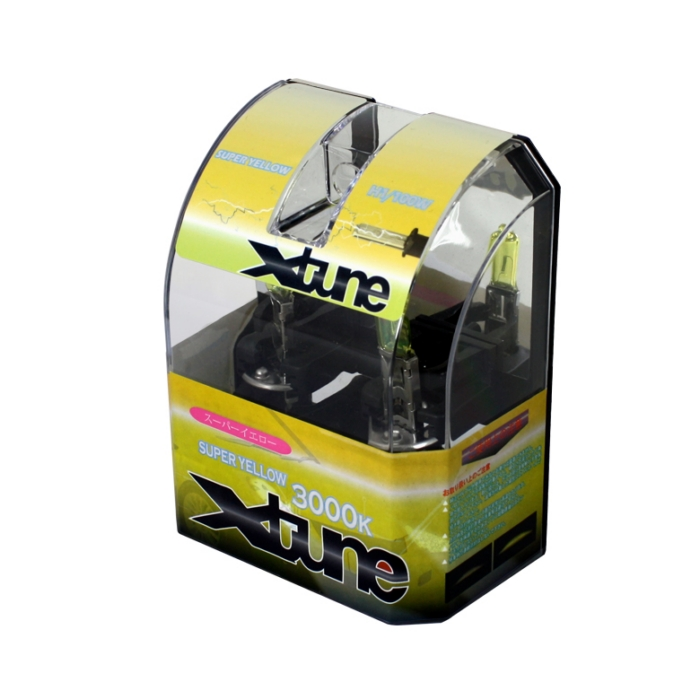 X-Tune Hyper Yellow H1 12v 100w Halogen Light Bulbs