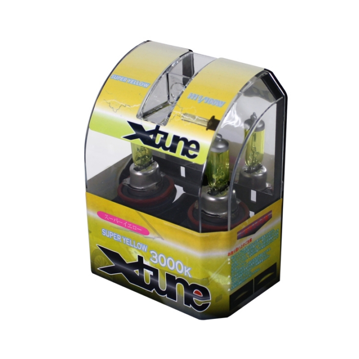 X-Tune Hyper Yellow H11 12v 100w Halogen Light Bulbs