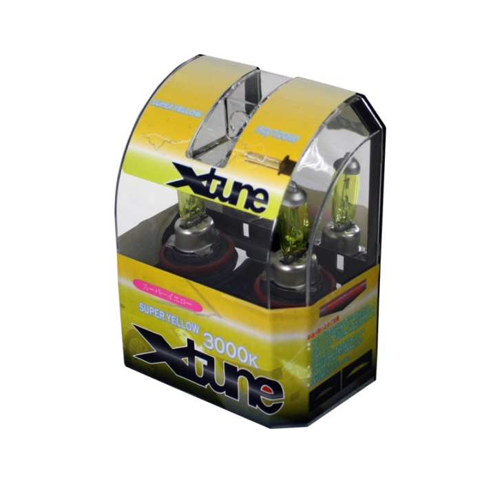 X-Tune Hyper Yellow H8 12v 100w Halogen Light Bulbs