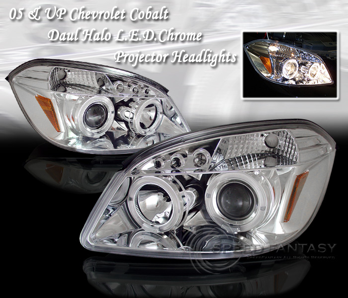 Chevrolet Cobalt 2005-2007 Projector Head Lights (Chrome)