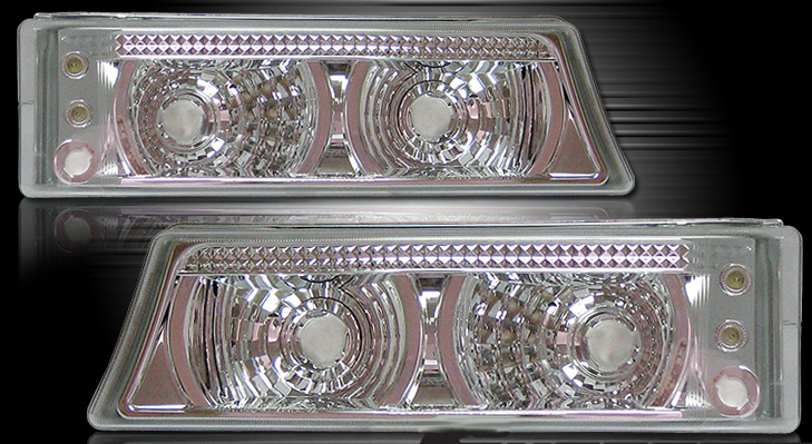 Chevrolet Silverado 2003-2006 Clear Parking Lights w/LED